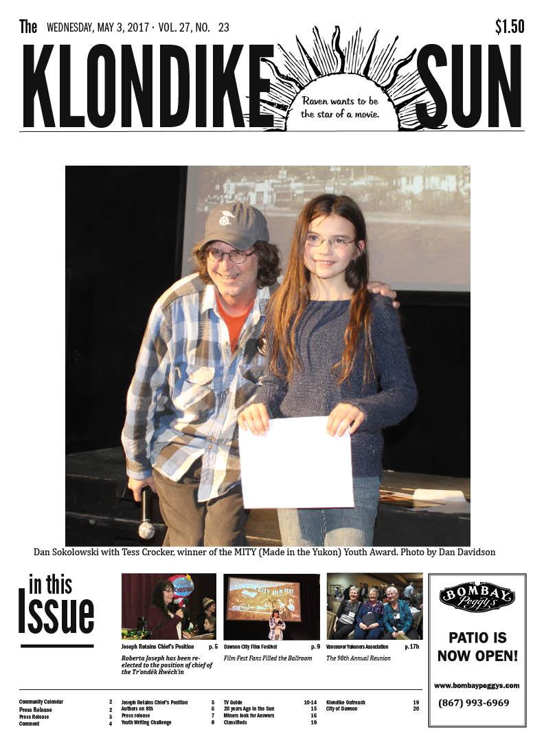Klondike Sun May 3, 2017 Front Page