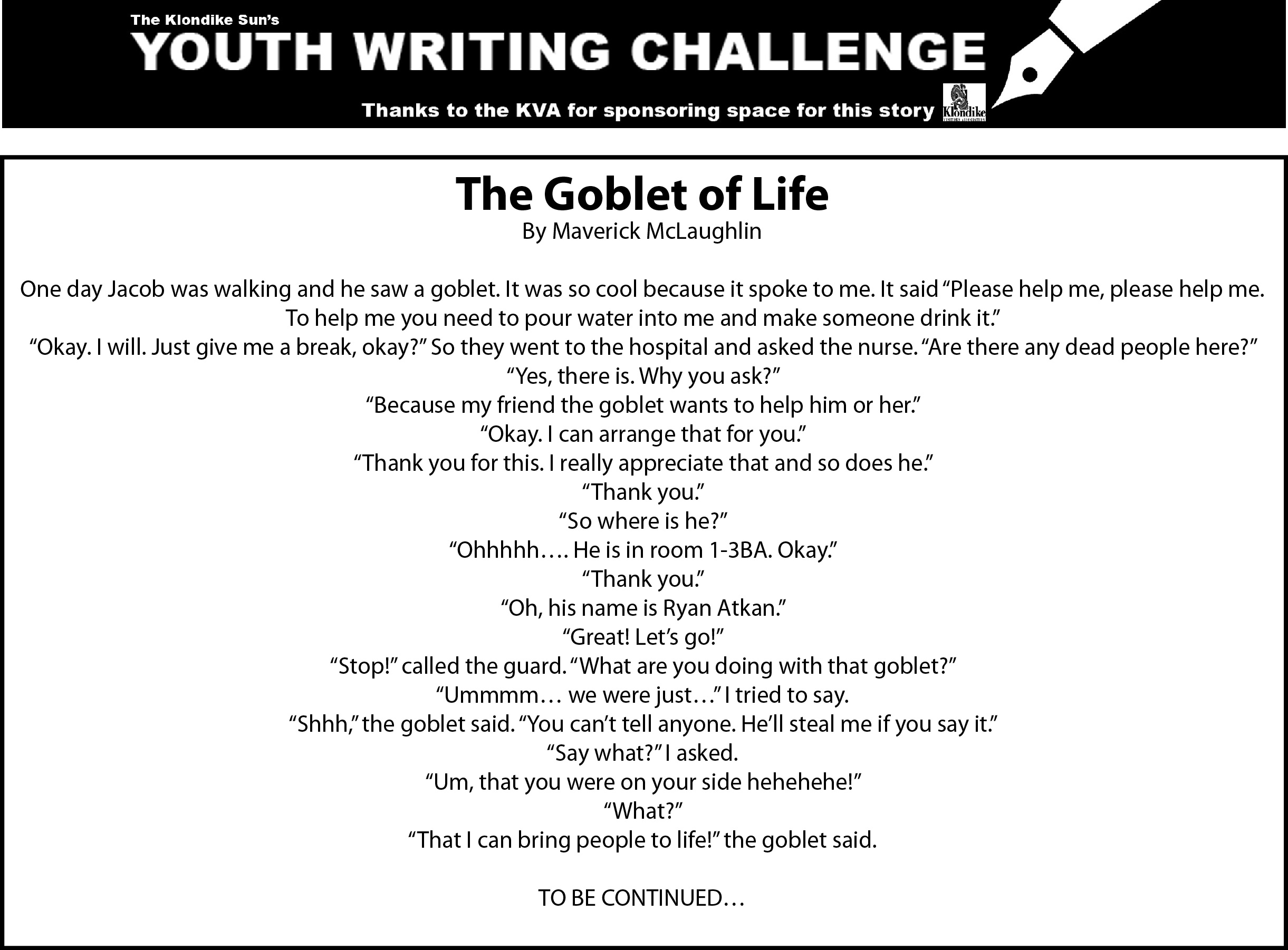 the goblet of life- YWC