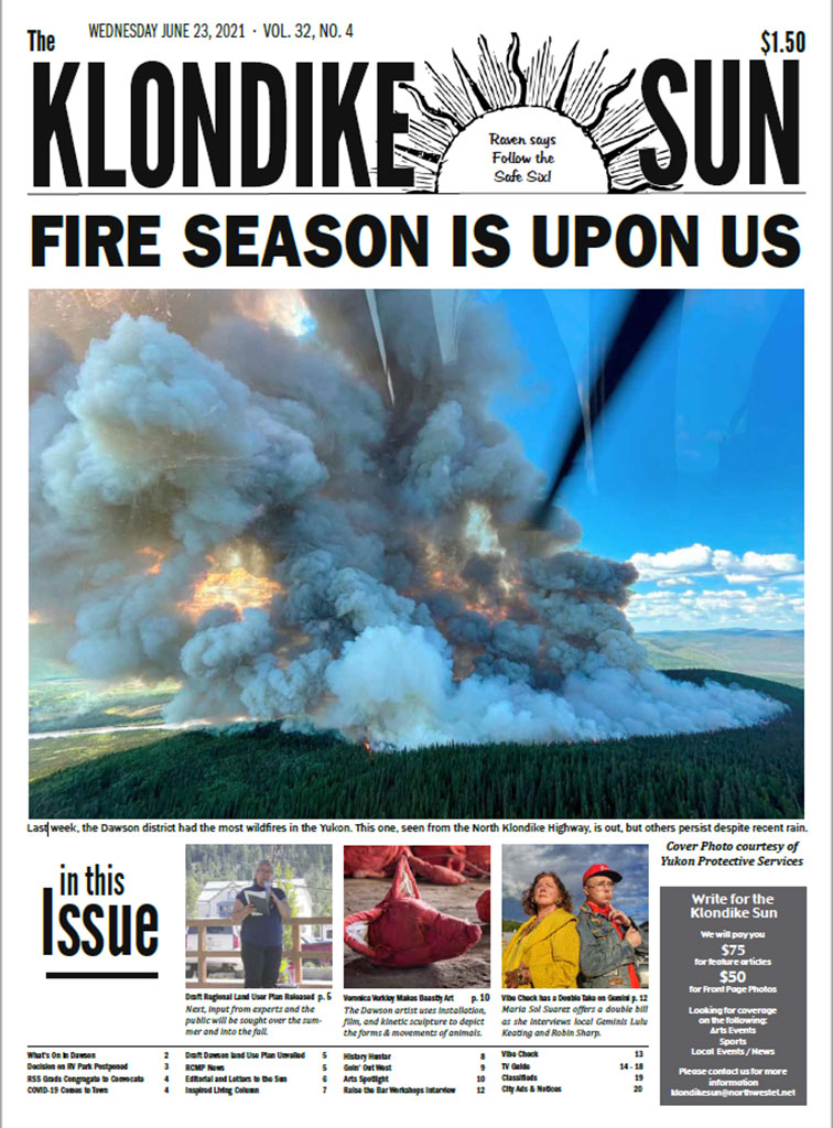 Front page of the Klondike Sun from 23-June-2021